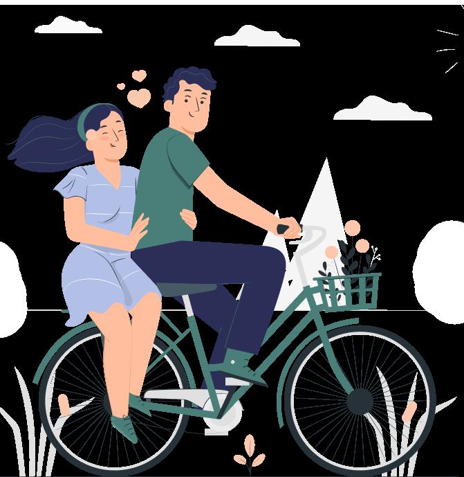couple on bike